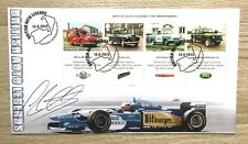 2013 British Auto Legends Miniature Sheet Cover Signed by Johnny Herbert.