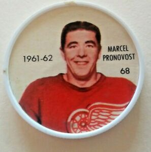 1961-62 Shirriff Coin:#68 Marcel Pronovost Detroit Red Wings Hall of Famer