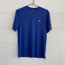 Champion - Men's Blue Short Sleeve T-Shirt, Size Small