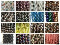 6mm Gemstone Round Beads Jewellery Making - approx 60-66 beads