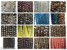 Piedras Semi-preciosas Redondos cuentas para fabricación de joyería 8mm 47-50