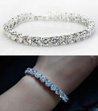 Bridal Silver Crystal Diamond Swarovski Rhinestone Bracelet Bangle Wedding