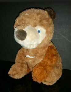 Eric Carle Zoobies Brown Plush What do you see? Soft Story Book Bear for Toddler