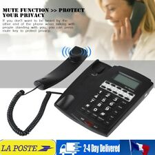 8-group Speed Dial Téléphone filaire avec écran LCD à haut-parleur