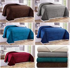 1-Piece Sherpa™ Corduroy Comforter / Blanket Extra Warm Soft Plush Over-sized