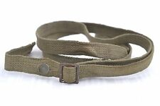 GERMAN WWII GAS MASK CANISTER LONG SHOULDER CANVAS STRAP WITH BUCKLE WW2 GASMASK