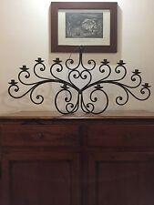 Candelabro, Portacandele Antico In ferro battuto, 10 Fuochi , Sabbiato