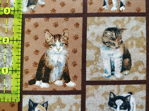 Lot 1318 Marcus Brothers, 2 Yards, Kitty City, Looks Like Quilting Cotton