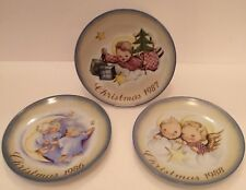 Schmid Collectible Plates Cherubs Angels 1986 1987 1988 Berta Hummel Collection