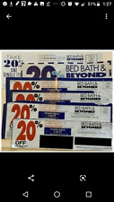 Lot of 6 Bed Bath & Beyond Coupons: 20% Off One Item In Store, Expired