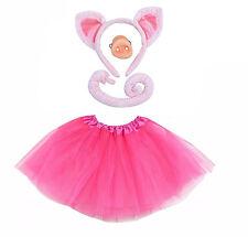 PIG Fancy Dress Halloween Costume TUTU EARS TAIL BOWTIE Accessory Set