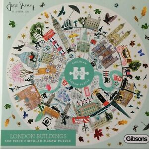 Brand New Gibsons 500 Piece Circular Jigsaw Puzzle - LONDON BUILDINGS