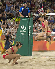 Kerri Walsh Jennings April Ross Rio 2016 Olympic Beach Volleyball 8X10 Photo #2