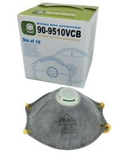 BOX OF 10 PCS CARBON N95 VALVED PARTICULATE RESPIRATOR