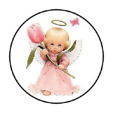 48 Angel with Rose!! ENVELOPE SEALS LABELS STICKERS 1.2