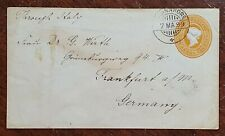 1899 QV India Pre Paid 2 1/2 Anna Cover to Dr Wirth, Frankfurt from Cannanore