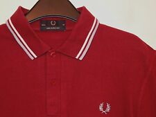 "mens Fred Perry made in England twin tipped polo shirt t-shirt M12 40"" medium"