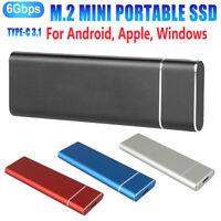 2TB Portable M.2 External Hard Drive USB 3.0 High Speed SSD for One Mac Windows