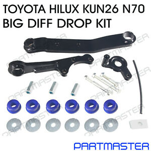 """Fits Toyota Hilux N70 KUN26 Front Direct Bolt In Diff Drop Kit 2"""" - 4"""" Lift"""