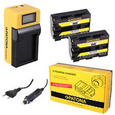 2x Batteria Patona + caricabatteria Synchron LCD USB per Sony DCR-PC120E