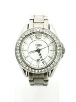 Fossil Watch ES2879 Riley Mini Stainless Steel Ladies Crystal Cocktail Watch EUC
