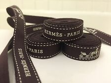 """100% Authentic  Hermes Paris Brown Gift Wrapping Ribbon 55"""""""