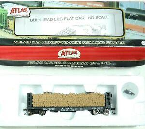 Atlas Atlantic Coast Line Pulpwood Flat Car #ACL70220-Ho Scale RTR #1602-6!