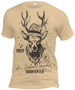 Grantler - An Scheiß muaß i Herren Trachten T-Shirt Oktoberfest Volksfest Sand