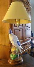 VINTAGE DecoTable Lamp  Parrot Cockatoo FULL SIZE COCKATOO..RARE BEAUTIFUL FIND