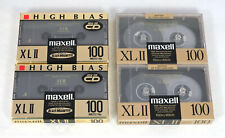 4 New Maxell XLII 100 Minute Japan High Bias Type II Blank Cassette Tapes
