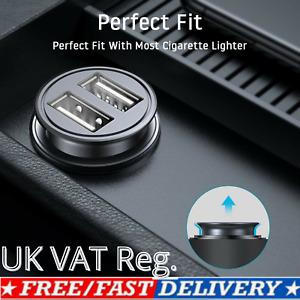 2 Way USB Charger Car Dual Socket 12V Cigarette Lighter Splitter Power Adapter