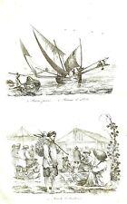 COCHIN CHINA - VIETNAM -SAIGON - TOURANE - Original 1834 Antique Prints set of 9