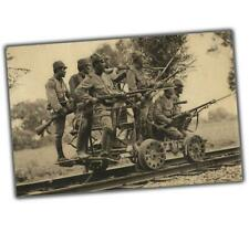 War Photo Japanese  soldiers on railway Kwantung army in 1930-1939 WW2 4x6 N