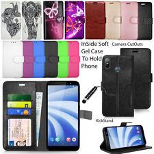 For HTC U11 U12 Life U11 U11 Play Phone Cover Leather Wallet Case Book Fashion