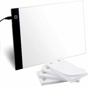 Blank Flip Book Kit with A4 LED Light Box and 240 Sheets (480 Pages) Screw Flip