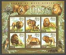 L1516 SALE 2015 SIERRA LEONE ANIMALS FAUNA WILD CATS LIONS KB MNH STAMPS
