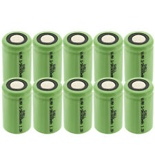 10-Pack Exell 2/3A 1600mAh 1.2V Nimh Rechargeable Flat Top Batteries Usa Ship