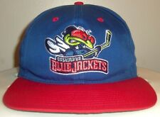 VINTAGE 90's COLUMBUS BLUE JACKETS NHL TWINS ENTERPRISE CBJ STINGER SNAPBACK HAT