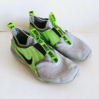 Nike Flex Runner Grey/Neon Green Boy's/Kid's Slip On Shoes - Size 2Y BV1644-002