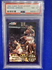 1992 Fleer Team Leaders Michael Jordan PSA 8! Tough grade