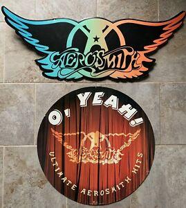 Aerosmith Promotional Cardboard Cut Out Ceiling Display