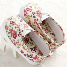 Floral Print Slip On Baby Shoes Size  0-3 Months