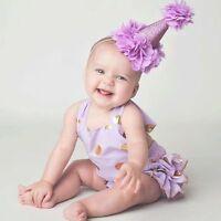 Kids Baby Girl Toddler Lace Flower Crown Hair Band Headwear Headband Accessories