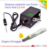 MINI STAZIONE SALDANTE LAFAYETTE MSS-9 SALDATURE SMD PUNTA 0,3 STAGNO OMAGGIO