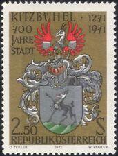 Austria 1971 Kitzbuhel/Goat/Coat-of-Arms/Heraldry/History 1v (at1052a)