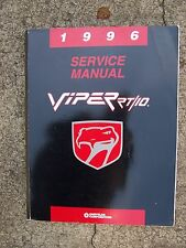 1996 Chrysler Viper RT/10 auto Service Manual MORE CAR ITEMS IN OUR STORE  K