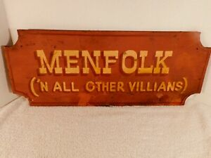 """Vintage Wooden """"Man Cave"""" Sign, 20 by 8 Inches"""