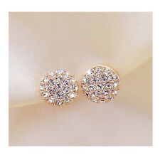 Classic Elegant Round Crystal Rhinestone Ear Stud Earrings Wedding Jewellery Hot