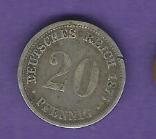 Germany 20 pfennig 1875-H