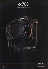 Sony Alpha 700 – zeitgenössisches Prospekt *** neu ***